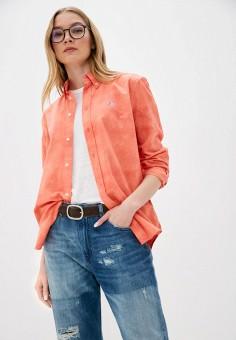 Рубашка, Polo Ralph Lauren, цвет: оранжевый. Артикул: PO006EWHTYO4. Одежда / Блузы и рубашки / Рубашки