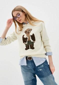 Джемпер, Polo Ralph Lauren, цвет: бежевый. Артикул: PO006EWIHDO1. Одежда / Джемперы, свитеры и кардиганы / Джемперы и пуловеры / Джемперы