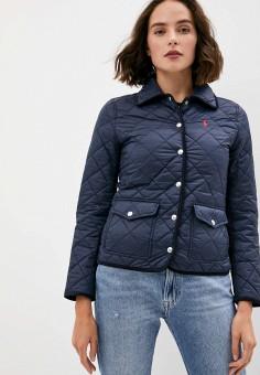 Куртка утепленная, Polo Ralph Lauren, цвет: синий. Артикул: PO006EWJRIT7. Одежда / Верхняя одежда / Демисезонные куртки