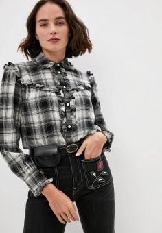 Блуза, Polo Ralph Lauren, цвет: черный. Артикул: PO006EWJRJF3.