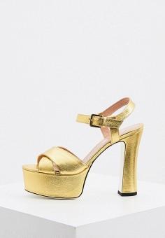 Босоножки, Pollini, цвет: золотой. Артикул: PO756AWJKCP2. Обувь / Босоножки