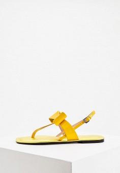 Сандалии, Pollini, цвет: желтый. Артикул: PO756AWJKCU0. Обувь / Сандалии
