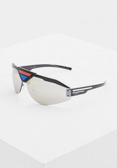 Очки солнцезащитные, Prada, цвет: черный. Артикул: PR040DMENBX1. Аксессуары
