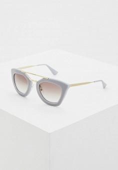 Очки солнцезащитные, Prada, цвет: серый. Артикул: PR040DWDPZ28. Аксессуары / Очки