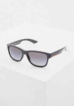 Очки солнцезащитные, Prada Linea Rossa, цвет: черный. Артикул: PR044DMATBD5. Аксессуары