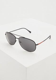 Очки солнцезащитные, Prada Linea Rossa, цвет: черный. Артикул: PR044DMDBJT6. Аксессуары