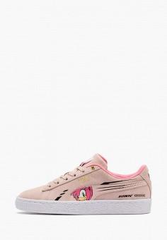 Кеды, PUMA, цвет: розовый. Артикул: PU053AGIHNP9.
