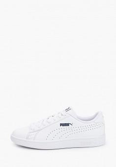Кеды, PUMA, цвет: белый. Артикул: PU053AUHXAD2. Обувь / Кроссовки и кеды / Кеды