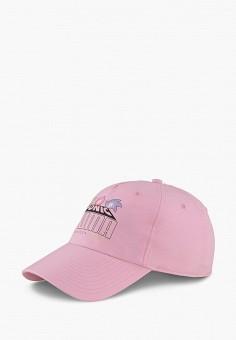 Бейсболка, PUMA, цвет: розовый. Артикул: PU053CGJZQU7. Девочкам / Аксессуары
