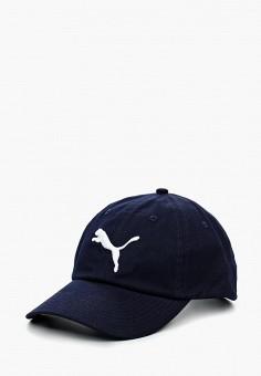 Бейсболка, PUMA, цвет: синий. Артикул: PU053CUKNC42. Аксессуары / Головные уборы