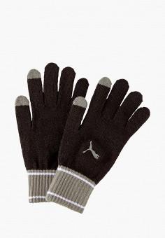 Перчатки, PUMA, цвет: черный. Артикул: PU053DUJYXP2. Аксессуары / Перчатки и варежки