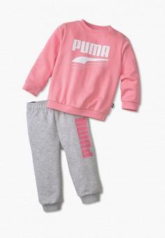 Костюм спортивный, PUMA, цвет: розовый, серый. Артикул: PU053EBIHLA1.