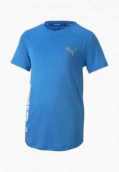 Футболка спортивная, PUMA, цвет: голубой. Артикул: PU053EBIHLP5.