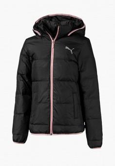 Пуховик, PUMA, цвет: черный. Артикул: PU053EGEGCT2. Девочкам / Одежда / Верхняя одежда / Куртки и пуховики