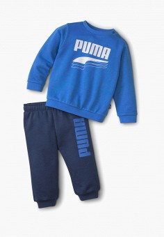 Костюм спортивный, PUMA, цвет: синий. Артикул: PU053EGIHLA0.