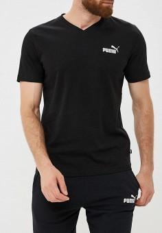 Футболка, PUMA, цвет: черный. Артикул: PU053EMCJKI4. Одежда / Футболки и поло