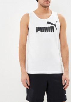 Майка спортивная, PUMA, цвет: белый. Артикул: PU053EMDZRR5. Одежда / Майки