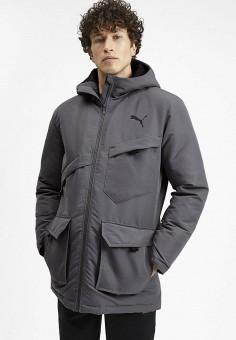 Куртка утепленная, PUMA, цвет: серый. Артикул: PU053EMFRIB5. Одежда / Верхняя одежда / Демисезонные куртки