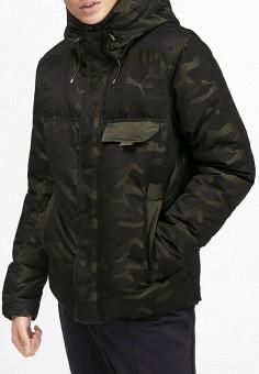 Пуховик, PUMA, цвет: хаки. Артикул: PU053EMFXRM1. Одежда / Верхняя одежда / Пуховики и зимние куртки
