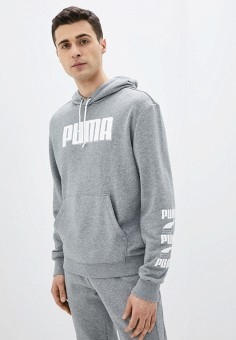 Худи, PUMA, цвет: серый. Артикул: PU053EMIGZA1. Одежда / Толстовки и олимпийки / Худи