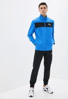 Костюм спортивный, PUMA, цвет: синий, черный. Артикул: PU053EMIGZP9.