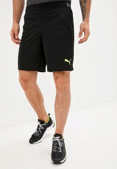 Шорты спортивные, PUMA, цвет: черный. Артикул: PU053EMIHHI9. Одежда / Шорты