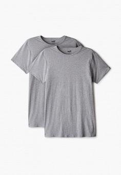 Комплект, PUMA, цвет: серый. Артикул: PU053EMJOTX3. Одежда / Футболки и поло
