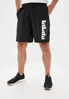 Шорты спортивные, PUMA, цвет: черный. Артикул: PU053EMJTIO1. Одежда / Шорты