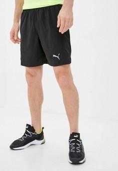 Шорты спортивные, PUMA, цвет: черный. Артикул: PU053EMJZPJ3. Одежда / Шорты