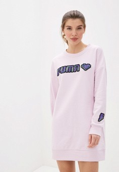 Платье, PUMA, цвет: розовый. Артикул: PU053EWIHAK9.