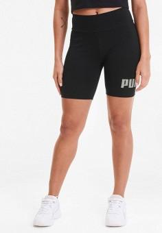 Шорты спортивные, PUMA, цвет: черный. Артикул: PU053EWIHAV0.