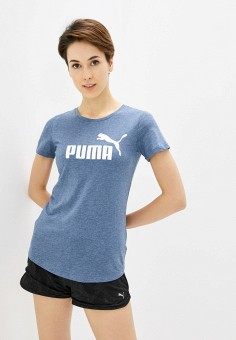 Футболка, PUMA, цвет: синий. Артикул: PU053EWIHBH6.