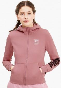 Толстовка, PUMA, цвет: розовый. Артикул: PU053EWJZPY3. Одежда / Толстовки и свитшоты