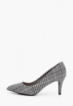 Туфли, Queen Vivi, цвет: серый. Артикул: QU004AWKHQQ3. Обувь / Туфли / Лодочки