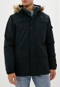 Куртка утепленная, Quiksilver, цвет: черный. Артикул: QU192EMFZPE0. Одежда / Верхняя одежда / Демисезонные куртки