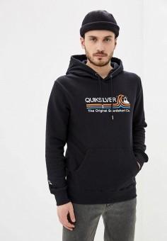 Худи, Quiksilver, цвет: черный. Артикул: QU192EMIJHX2. Одежда / Толстовки и олимпийки / Худи
