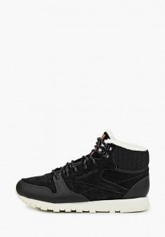 Кроссовки, Reebok Classic, цвет: черный. Артикул: RE005AWFKWB7. Обувь / Кроссовки и кеды