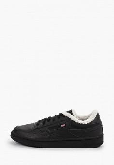 Кеды, Reebok Classic, цвет: черный. Артикул: RE005AWHBDP7. Обувь