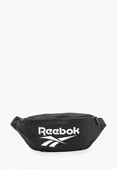 Сумка поясная, Reebok Classic, цвет: черный. Артикул: RE005BUJMKP9. Аксессуары / Сумки