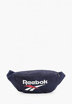 Сумка поясная, Reebok Classic, цвет: синий. Артикул: RE005BUJMKQ4. Аксессуары / Сумки