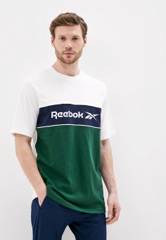 Футболка, Reebok Classic, цвет: зеленый. Артикул: RE005EMJMJR1. Одежда / Футболки и поло