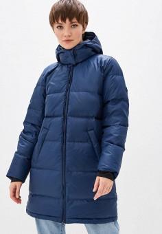 Пуховик, Reebok Classic, цвет: синий. Артикул: RE005EWFKDI2. Одежда / Верхняя одежда / Пуховики и зимние куртки / Пуховики