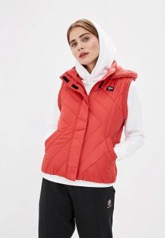 Жилет утепленный, Reebok Classic, цвет: красный. Артикул: RE005EWFKWL6. Одежда / Верхняя одежда / Жилеты