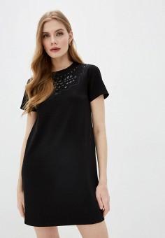 Платье, Red Valentino, цвет: черный. Артикул: RE025EWJAGK3. Одежда / Платья и сарафаны / Повседневные платья