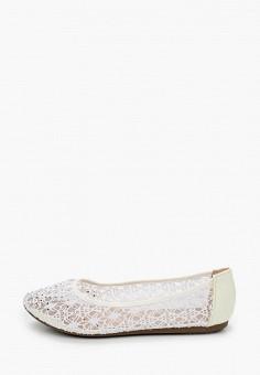 Балетки, Renda, цвет: белый. Артикул: RE031AWITLG7. Обувь / Балетки