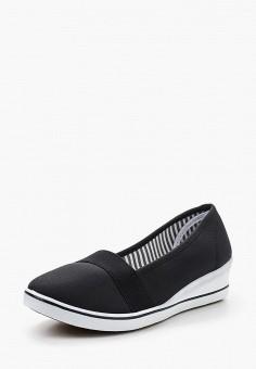 Слипоны, Renda, цвет: черный. Артикул: RE031AWSAG77. Обувь / Слипоны