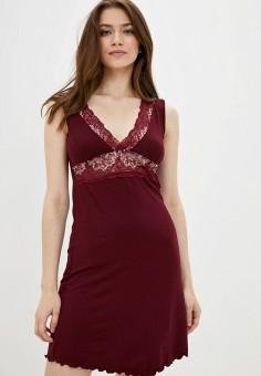 Сорочка ночная, Rene Santi, цвет: бордовый. Артикул: RE048EWKCVX4. Одежда / Домашняя одежда