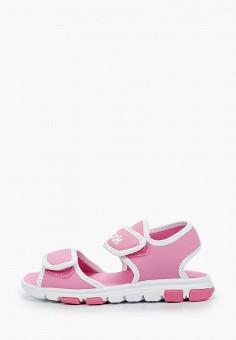 Сандалии, Reebok, цвет: розовый. Артикул: RE160AGIAMC6. Девочкам / Спорт