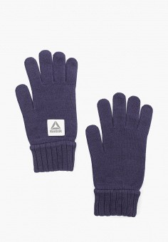 Перчатки, Reebok, цвет: синий. Артикул: RE160DUFKWM7. Аксессуары / Перчатки и варежки