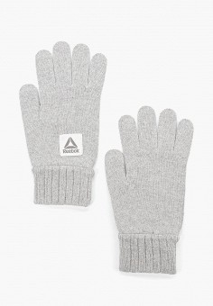 Перчатки, Reebok, цвет: серый. Артикул: RE160DUFKWM8. Аксессуары / Перчатки и варежки
